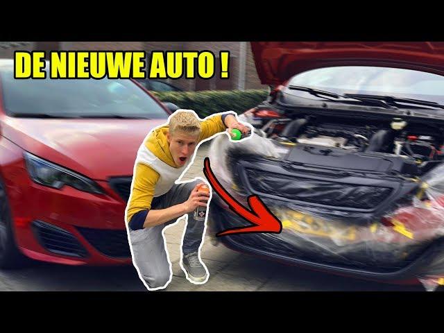 NU AL DE GRIL SPUITEN VAN DE NIEUWE AUTO !!!