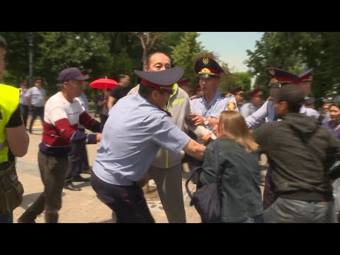 Clashes And Arrests As Kazakhstan Elects President