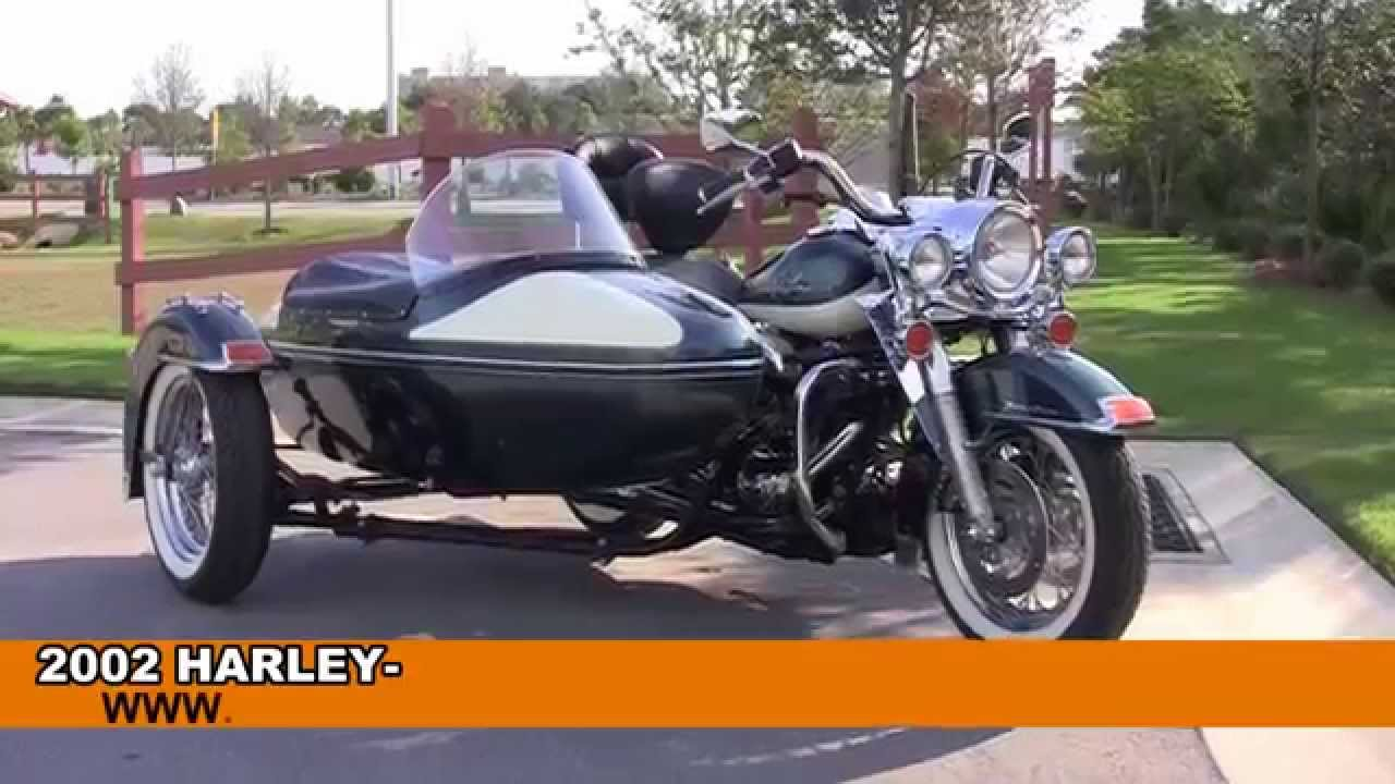 2002 harley davidson road king with sidecar used motorcycles for sale youtube. Black Bedroom Furniture Sets. Home Design Ideas