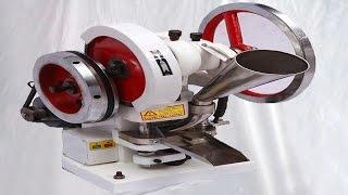 single punch tablet making machine test demo for Saudi Arabian customer آلة صنع لوحة