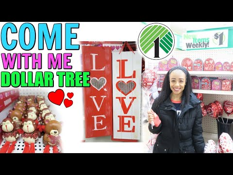 COME WITH ME TO DOLLAR TREE! VALENTINE'S DAY ITEMS FOR GIFT BASKETS!