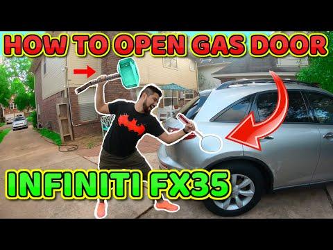 How To Open Infiniti FX35 Fuel Door ( Gas Door )