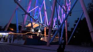 Гигантское колесо обозрения  в Лазаревской. Attraction Giant Ferris Wheel in the Lazarev.