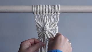 Macrame For Beginners  28 Days of Knots! Day 20: Six Petal Flower Pattern
