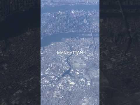 Flying over Manhattan Island
