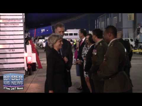 Airport Arrival Of HRH The Duchess of Gloucester, October 23 2015