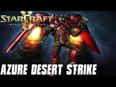Azure Desert Strike - Terran Air Power - Starcraft 2 Mod