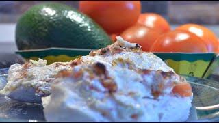 ПП рецепт сочной куриной грудки с творогом и помидорами в духовке!