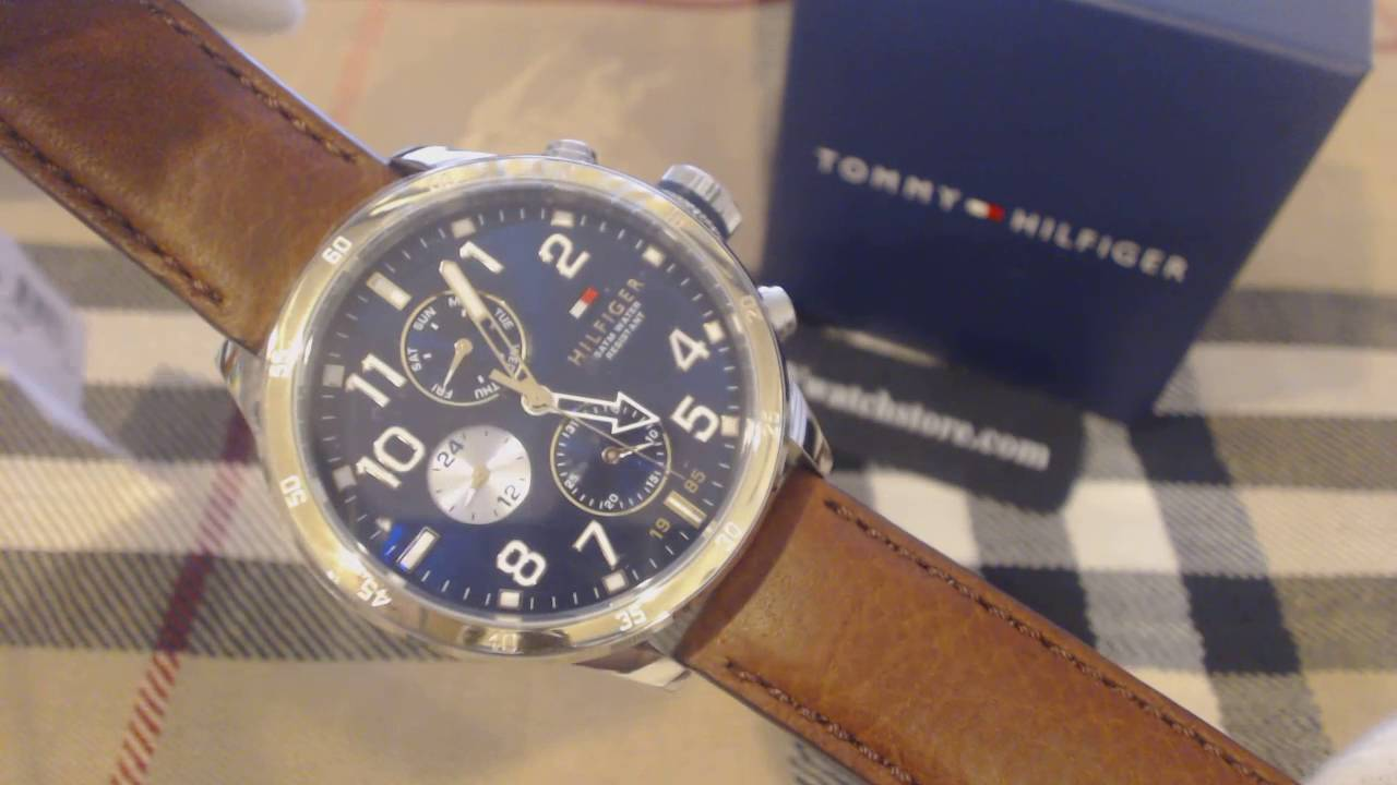 boicotear bronce doble  Men's Tommy Hilfiger Cool Sport Multi Function Watch 1791137 - YouTube