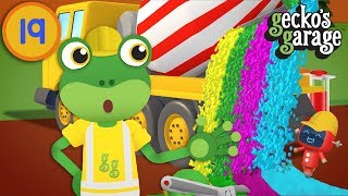 Gecko's Color Paint Playground | Gecko's Garage | Truck Videos For Children | Learn Colours For Kids