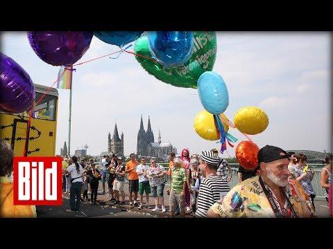 Köln 50667 und Berlin - Tag & Nacht feiern CSD am Rhein