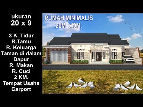 Desain Rumah Minimalis Dengan Tempat Usaha modern house 20 x 9 3 k tidur desain rumah minimalis