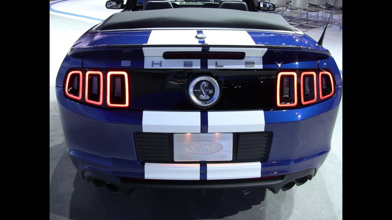 2013 shelby gt500 mustang convertible debuts at the 2012 chicago auto show youtube