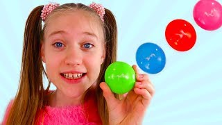 Learn colors with Sisters and Colors Toys for Children of Colored Toy Fun learning Colors