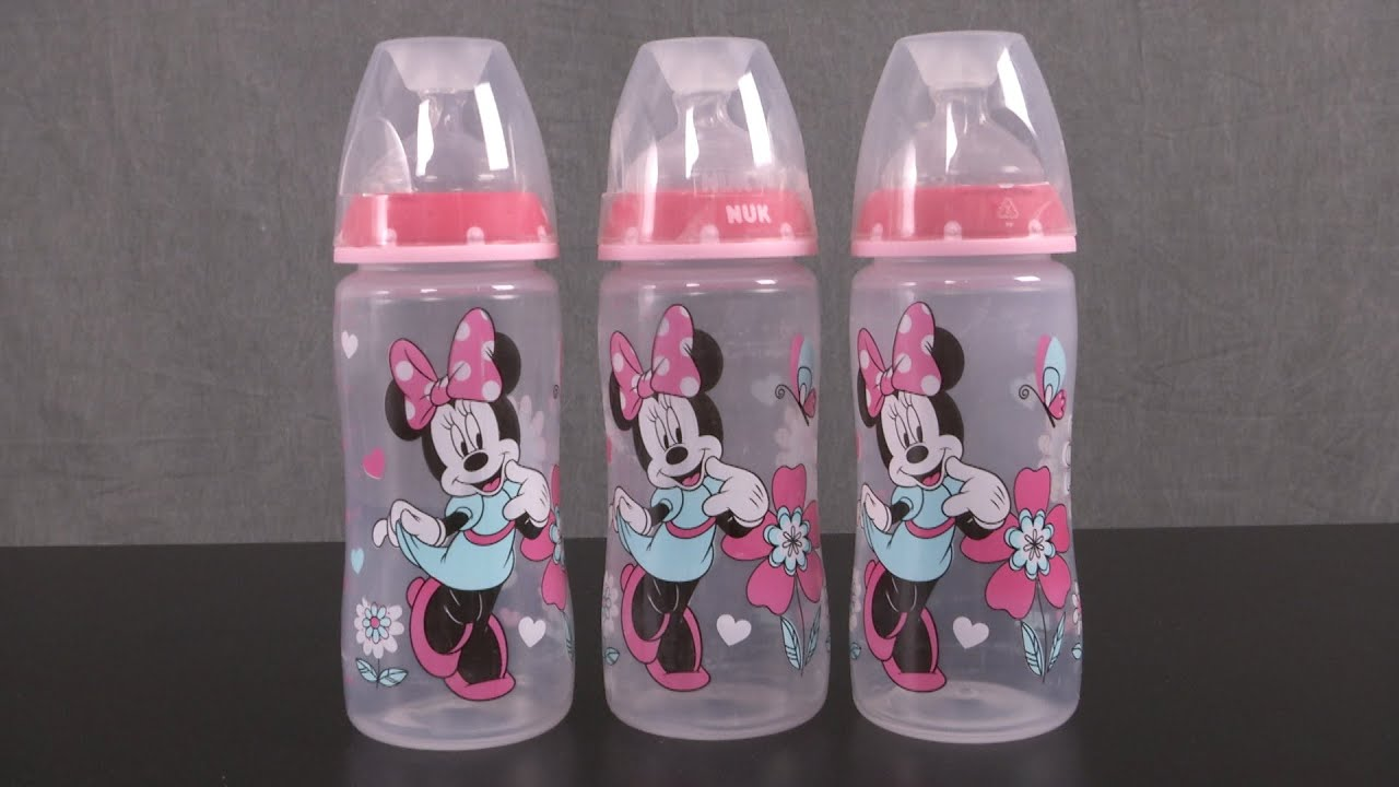 Disney Baby Minnie Mouse Orthodontic Bottles From Nuk