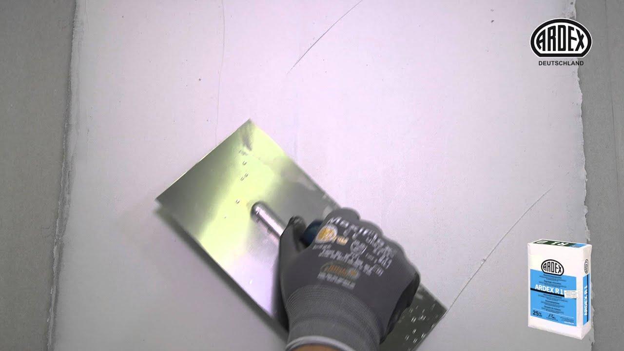 Fliesen Überspachteln Material ardex r1 renovierungsspachtel - für alle untergründe dieser welt
