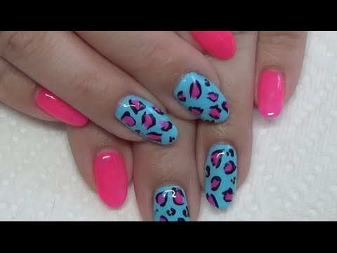 Easy Cheetah Gel Polish Nail Design - YouTube