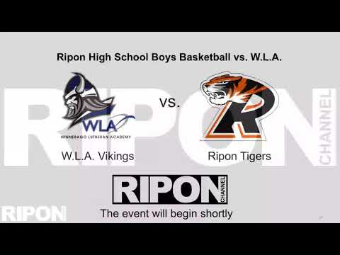 Ripon High School Boys Basketball vs. Winnebago Lutheran Academy 01-04-21