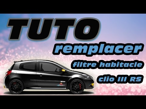 tuto changer filtre air renault clio 3 et modus how to. Black Bedroom Furniture Sets. Home Design Ideas