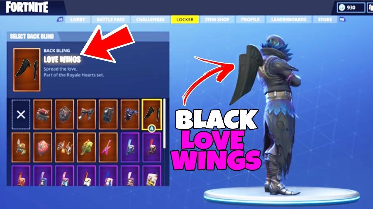 secret black love wings back bling in fortnite how to unlock the black love wings back bling - raven coming back fortnite