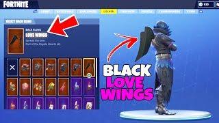"""*SECRET* Black """"Love Wings"""" BACK BLING in Fortnite? - How to Unlock the Black Love Wings BACK BLING"""