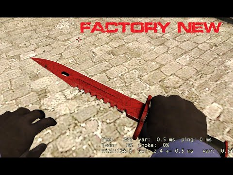 cs go m9 bayonet crimson web factory new youtube