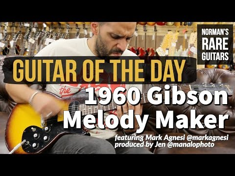 Guitar of the Day: 1960 Gibson Melody Maker   Norman's Rare Guitars
