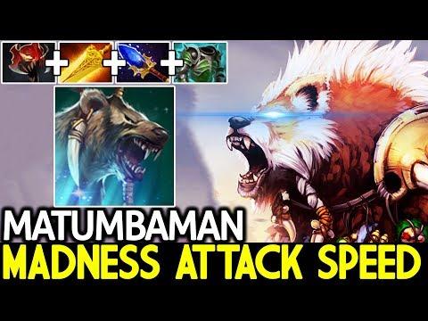 Matumbaman [Lone Druid] Madness Attack Speed Bear Imba Push Hero 7.21 Dota 2