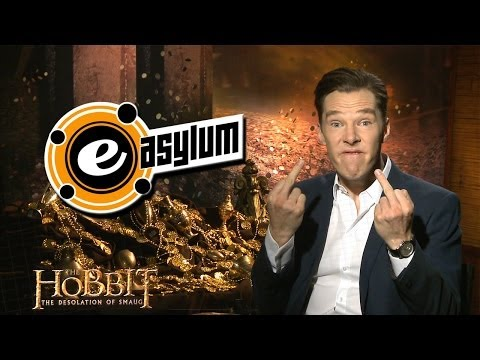 Benedict Cumberbatch Flips The Bird at Martin Freeman & Chats about Smaug
