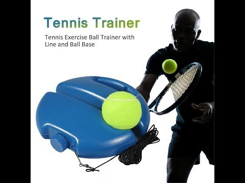 Tennis Trainer Rebound Tennis Ball with Elastic String Rope Exercise Equipment for Single Beginner Training Practicing Ralukiia Tennis Balls