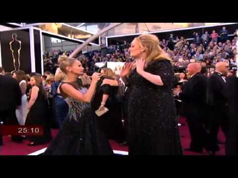 Adele Oscars Red Carpet INTERVIEW 2013 Oscars Academy Awards Pre Show