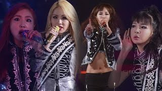 Repeat youtube video 2NE1 - 'CRUSH' + 'FIRE' LIVE PERFORMANCES