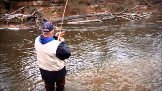 Fly Fishing Lake Ontario Tributaries - November 2013 - Orleans County - Point Breeze, NY