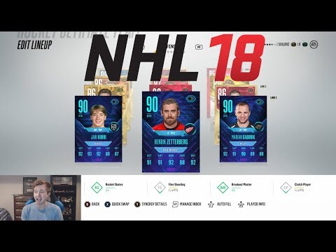 NHL 18 HUT - MY NEW TEAM IS NASTY!