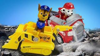 Видео про машинки и игрушки из мультфильмов про Щенячий Патруль. Время быть героем на Стройке!