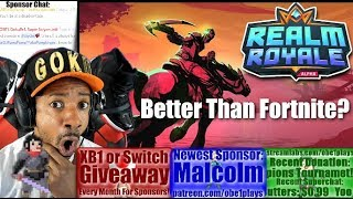 Better Than Fortnite? Realm Royale First Match!