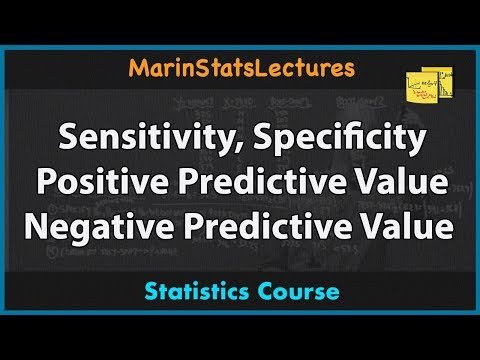 Sensitivity, Specificity, Positive and Negative Predictive Values | MarinStatsLectures