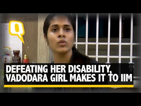 The Quint: Defeating Her Disability, Vadodara Girl Makes It to IIM Ahmedabad