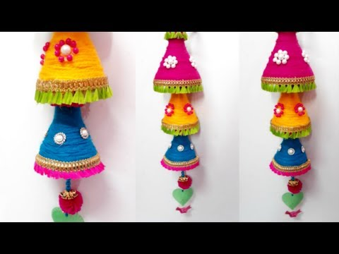 How to Make Wind Chime/Wall Hanging From Wool at Home (Part 2 ...
