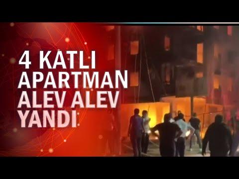 İzmir'de 4 katlı apartmanda yangın çıktı bir anne ve 2 yaşındaki çocuğu kurtarıldı