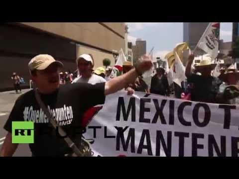 Mexico: Thousands of farmers and Indians march against energy reforms