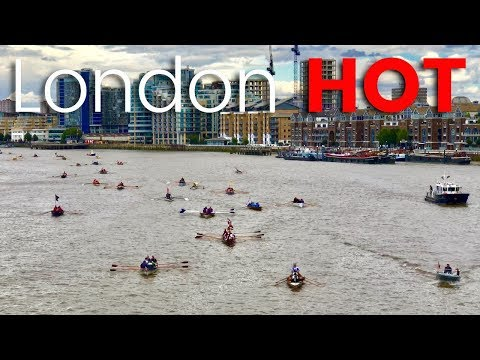 Spectacle of London's River Thames 'Great River Race' 2017