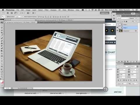 How to Make Perspective Mockups in Photoshop