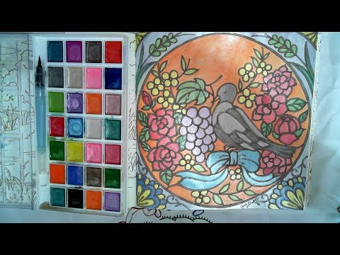 Water Coloring in Romantic Country 2| Church Stained Glass