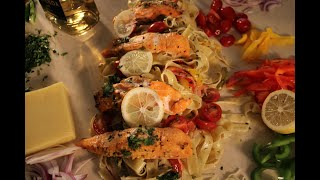 LEMON TEQUILA FETTUCCINE WITH SALMON