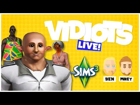 Vidiots Live! Twitch Stream - The Sims 3 [20/09/18]