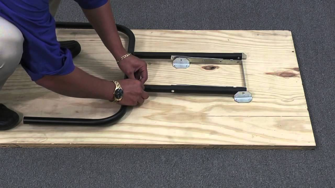 How To Assemble Waddell Folding Table Legs   YouTube
