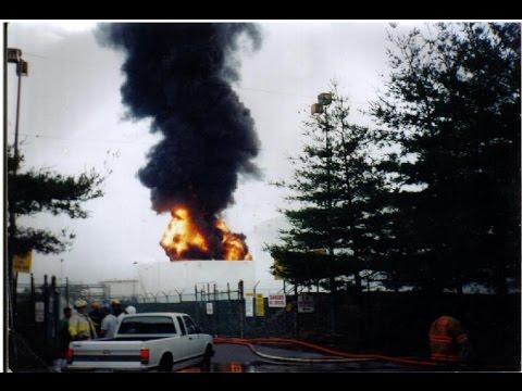 Shell Tank Fire. Sewaren, New Jersey. JUne 11 and 12 , 1996.