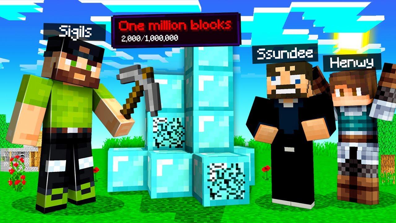 Breaking ONE MILLION Blocks in Minecraft (1 Mill Sub Special)