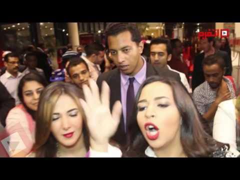 فيديو هجوم الصحافة على دنيا وايمي سمير غانم HD